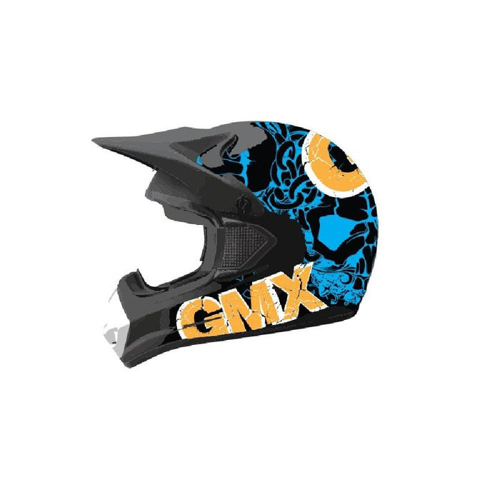 GMX Blue/Orange / Small GMX Motorcross Kids Safety Helmet GE-014-011