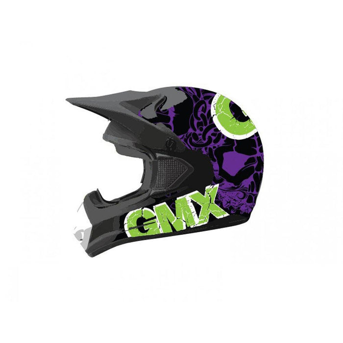 GMX Green/Purple / Small GMX Motorcross Kids Safety Helmet GE-014-031