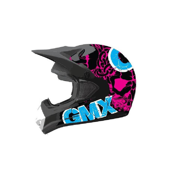 GMX Pink/Blue / Small GMX Motorcross Kids Safety Helmet GE-014-041