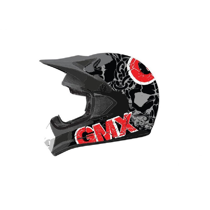 GMX Grey/Red / Small GMX Motorcross Kids Safety Helmet GE-015-001