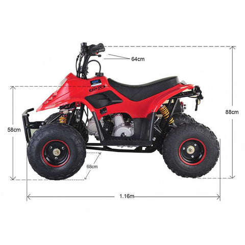 GMX Ripper 70cc Petrol-Powered 4-Stroke Kids Sports Quad Bike - Kids Car Sales