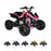 GMX GMX Sports Zilla X 125cc Petrol-Powered 4-Stroke Quad Bike - Orange GE-YH125X-ORG