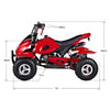 Image of GMX Starter 49cc Petrol-Powered 2-Stroke Kids Quad Bike - Kids Car Sales