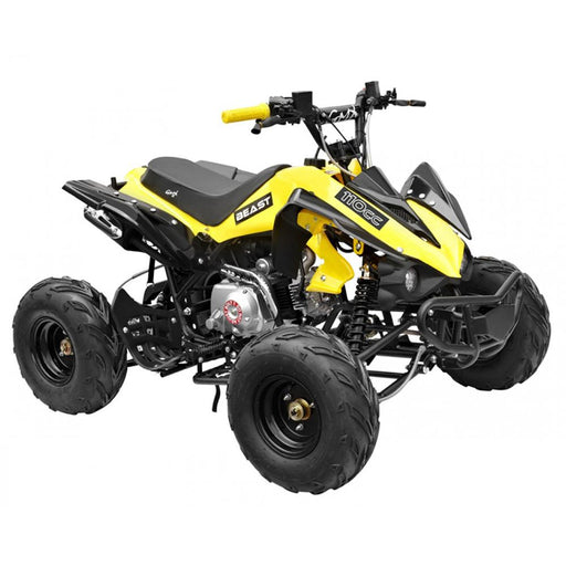 GMX GMX Beast 110cc Petrol-Powered 4-Stroke Kids Sports Quad Bike - Yellow GE-YX110-YEL