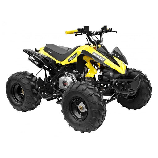GMX Yellow GMX The Beast 125cc Petrol-Powered 4-Stroke Sports Quad Bike GE-YX125-YEL