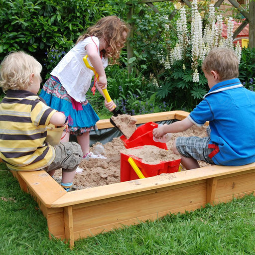 Garden Games Square Kids Backyard Sandpit, 1.5m x 1.5m - Kids Car Sales
