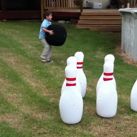 Giant Inflatable Jumbo Bowling Set Game - Kids Car Sales