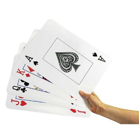 Giant Plastic Coated Playing Cards 37cm x 24cm - Kids Car Sales