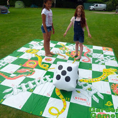 Giant Snakes and Ladders Game with Inflatable Dice