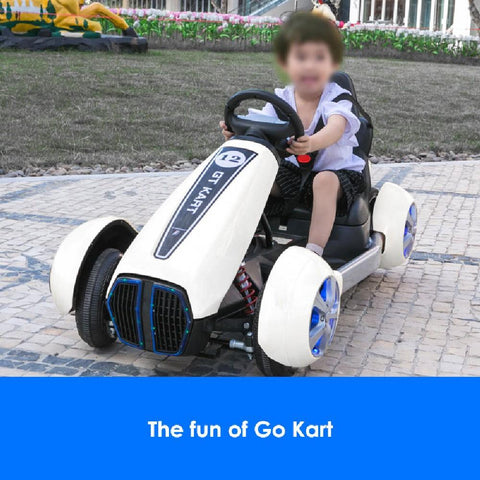 Go-Kart Style 12v Ride-On Kids Car with Remote - Kids Car Sales