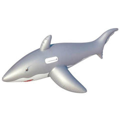 Great White Shark Pool Rider Inflatable Float Toy - Kids Car Sales