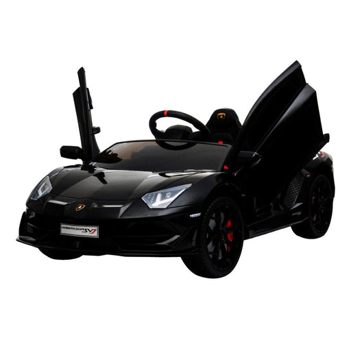 Lamborghini Aventador SVJ 12v Kids Ride-On Car w/ Remote - Black - Kids Car Sales