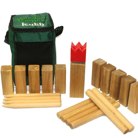 Hardwood Kubb Game by Garden Games - Kids Car Sales