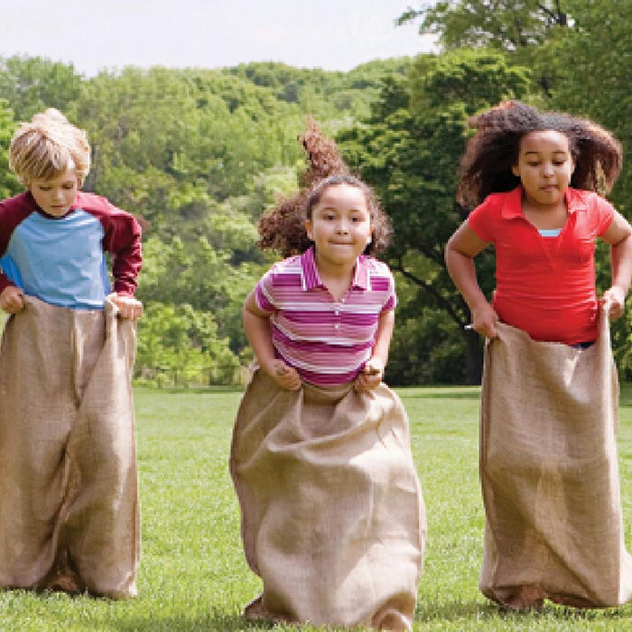 Hessian Potato Sack Race Game for Kids - Set of 12 - Kids Car Sales
