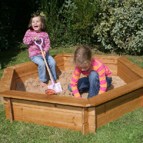 Hexagonal Timber Backyard Kids Sand Pit, 1.5m - Kids Car Sales