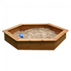 Image of Hexagonal Timber Backyard Kids Sand Pit, 1.5m - Kids Car Sales