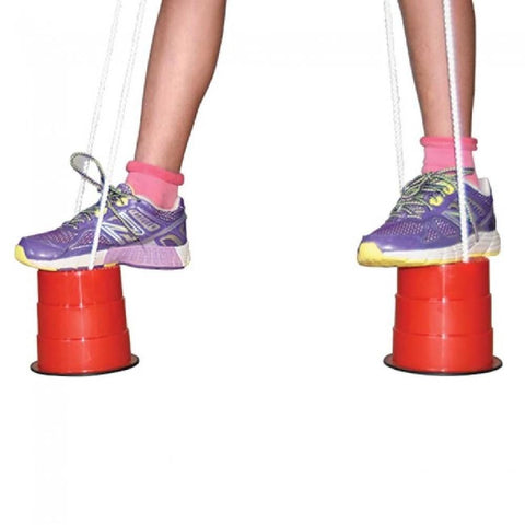 High Stepper Red Stilt Buckets with Rope - Kids Car Sales