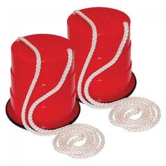 High Stepper Red Stilt Buckets with Rope