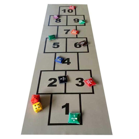 Hopscotch 77cm x 232cm PVC Mat with Beanbags - Kids Car Sales