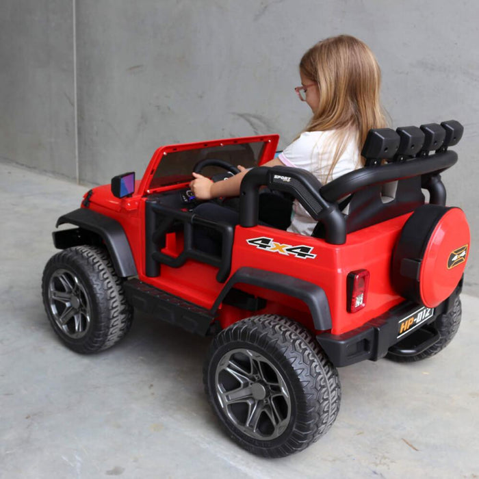 Big 2-Seat Beach-Cruiser 12v Kids Ride-On SUV w/ Remote - Red - Kids Car Sales