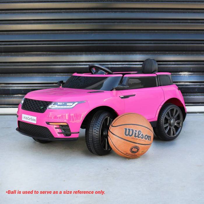 Kids Car Sales Range Rover Velar Style 12v Kids Ride-On Car w/ Remote - Pink BJ688-PIN