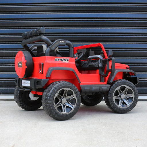 Kids Car Sales Big 2-Seat Beach-Cruiser 12v Kids Ride-On SUV w/ Remote - Red (ASSEMBLED) BJP012-RED-ASB