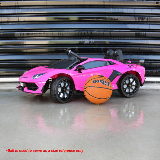Kids Car Sales Lamborghini Aventador SVJ 12v Kids Ride-On Car w/ Remote - Pink HL328-PIN
