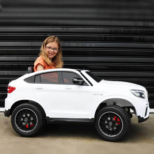 Unbranded Mercedes Benz GLC 63S White 12v Electric 2 Seats Ride-On Kids Car (Assembled) BJ608-ASB