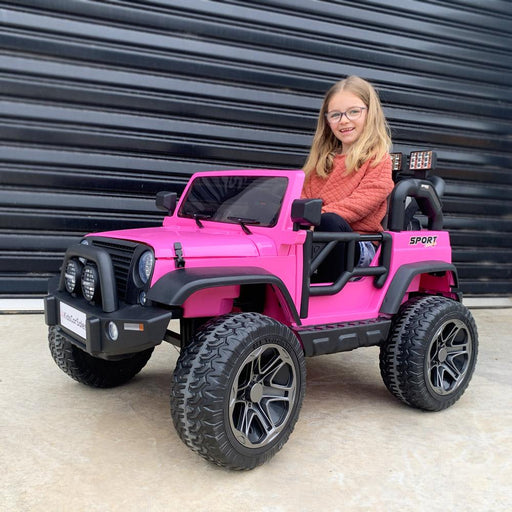Kids Car Sales Big 2-Seat Beach-Cruiser 12v Kids Ride-On SUV w/ Remote - Pink BJP012-PIN