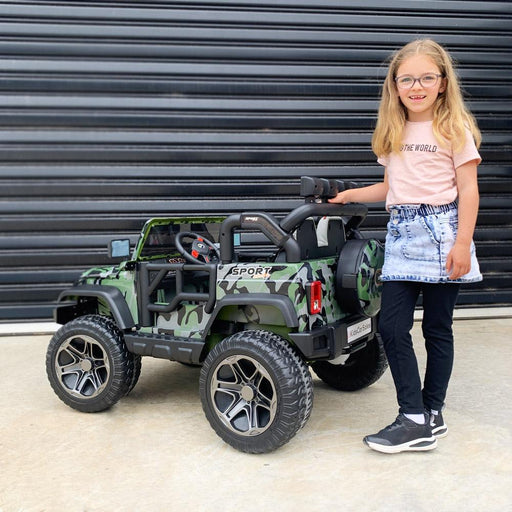 Kids Car Sales Big 2-Seat Beach-Cruiser 12v Kids Ride-On SUV w/ Remote - Camo BJP012-CAM
