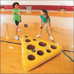 Inflatable Mouse and Cheese Toss Game