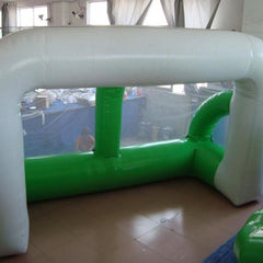 Inflatable White & Green Soccer Goal with Net, 4m x 2.5m