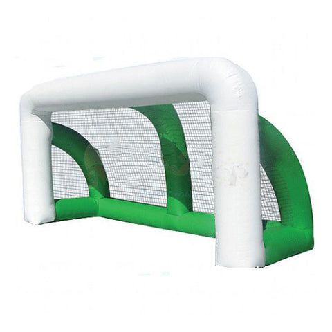 Inflatable White & Green Soccer Goal with Net, 4m x 2.5m - Kids Car Sales