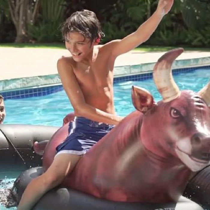 Inflatabull Rodeo Bull Ride On Water Pool Toy - Kids Car Sales