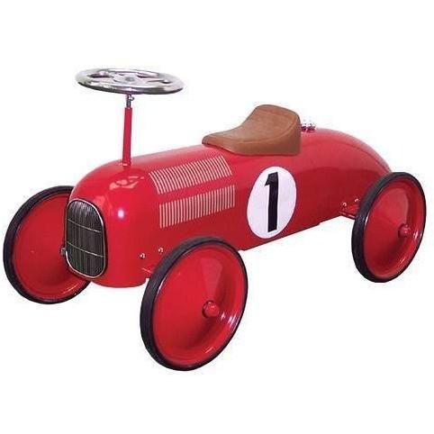 Johnco Red Metal Vintage Speedster Ride On Kids Car FS897R