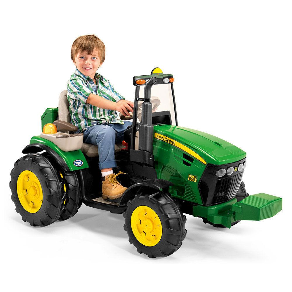 12V John Deere Dual Force Tractor Ride-On