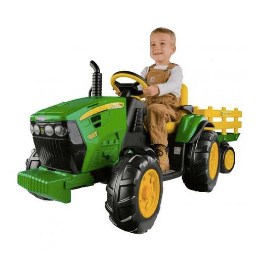 John Deere John Deere Ground Force 12v Kids Ride-On Tractor With Trailer IGOR0039