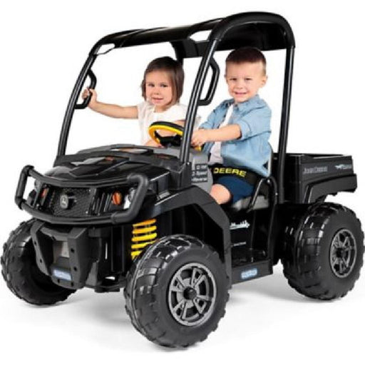 John Deere John Deere Midnight Black XUV 12V Kids Ride On Gator with Roof IGOD0093