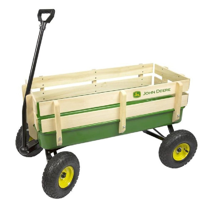 John Deere Steel Pull-Along Stake Wagon - Kids Car Sales