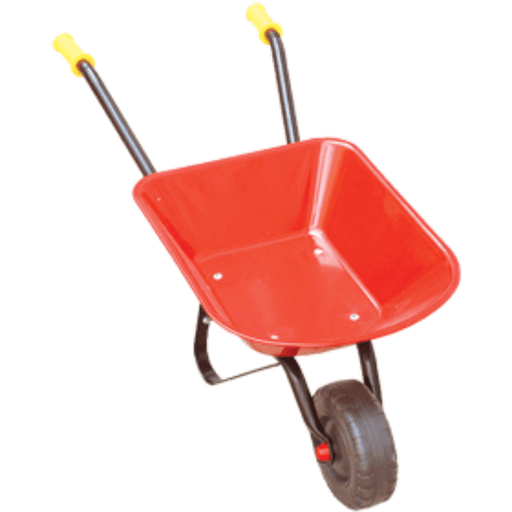 Johnco Kids Red Metal Mini Wheelbarrow FS2012R