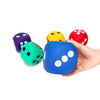 Image of Jumbo 10cm Coloured Rubber Dice - 6 Pack - Kids Car Sales