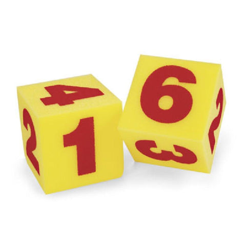 Jumbo 12cm Light Foam Numbered Dice