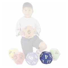 Jumbo 19cm Twelve Sided Vinyl Die - Various Colours Available