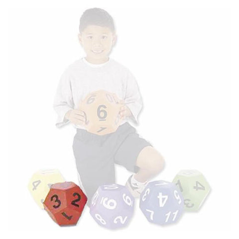 Jumbo 19cm Twelve Sided Vinyl Die - Various Colours Available - Kids Car Sales