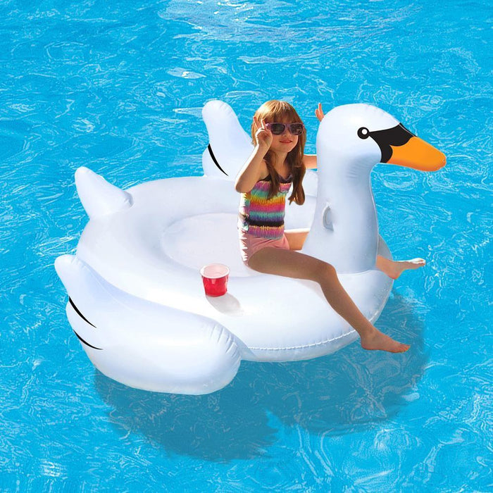 Jumbo Swan Pool Ride On Float Toy - Kids Car Sales
