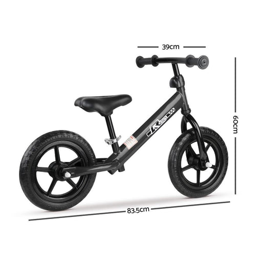 Rigo 12 Inch Kids Balance Bike - Black - Kids Car Sales