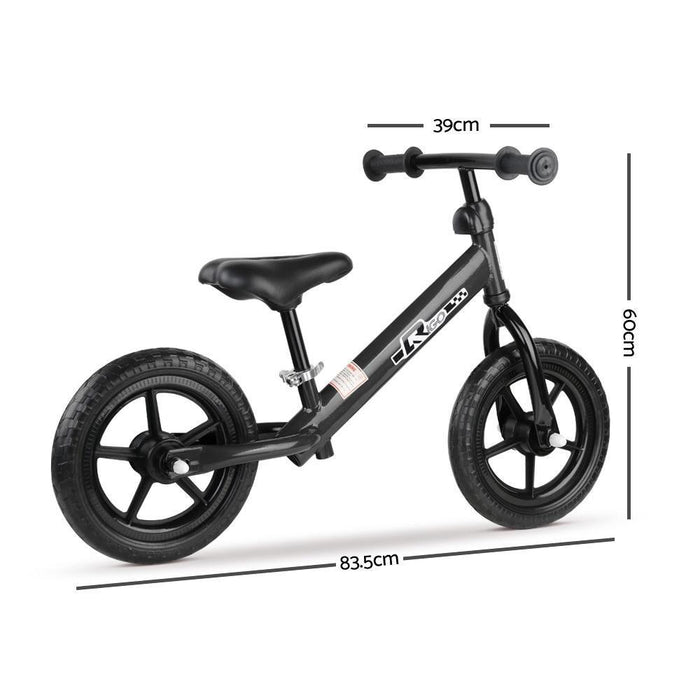 Unbranded Rigo 12 Inch Kids Balance Bike - Black DSZ-KBB-STEEL-12IN-BK
