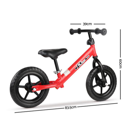 Rigo 12 Inch Kids Balance Bike - Red - Kids Car Sales