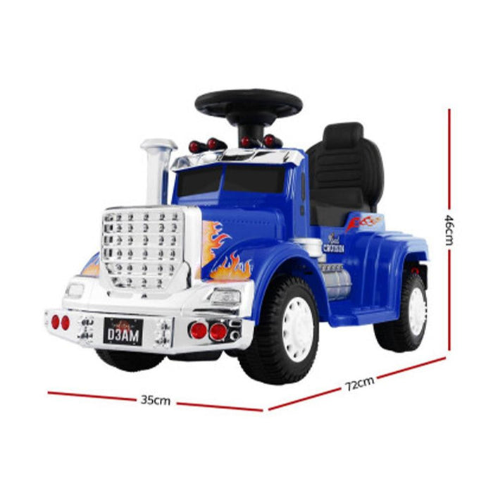 Unbranded Kids Electric Toy Truck 6v Ride-On Kids Car - Blue RCAR-TRUCK-25W-BU