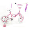 "Image of Kids 12"" Pink & White BMX Bicycle with Training Wheels - Kids Car Sales"